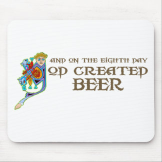 God Created Beer Mouse Mats