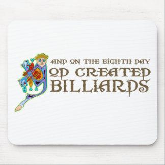 God Created Billiards Mouse Pad