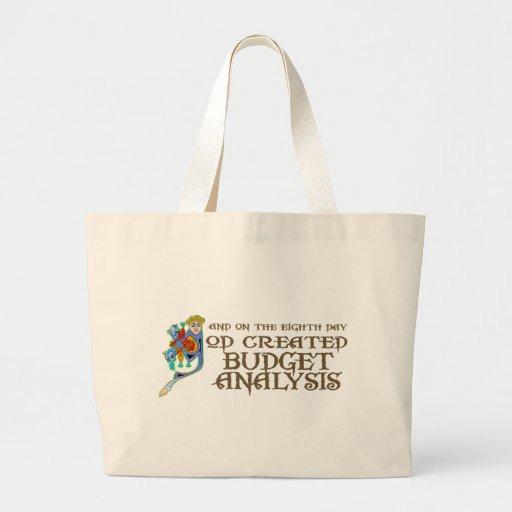 God Created Budget Analysis Tote Bag