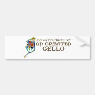 God Created Cello Bumper Sticker