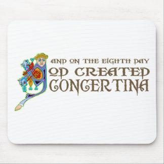 God Created Concertina Mouse Pad