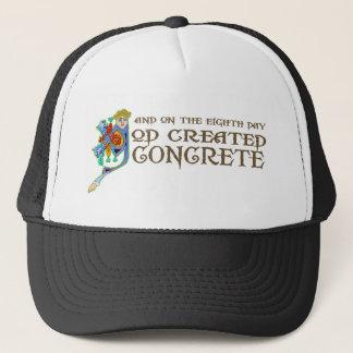 God Created Concrete Trucker Hat