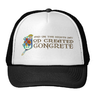 God Created Concrete Trucker Hat