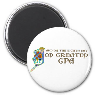 God Created CPAing 2 Inch Round Magnet
