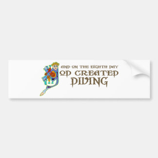 God Created Diving Bumper Stickers