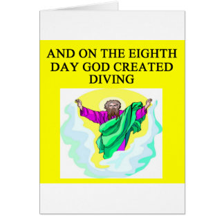 god created diving greeting card