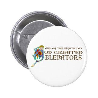 God Created Elevators 2 Inch Round Button