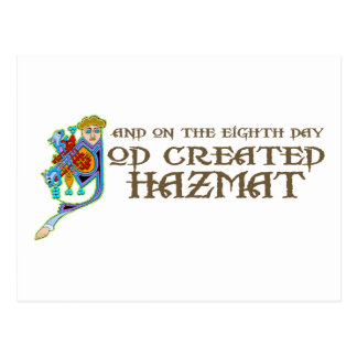 God Created Hazmat Postcard