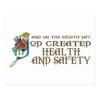 God Created Health and Safety Postcard