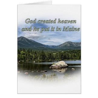 God created heaven card