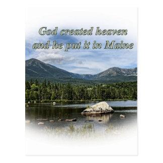 God created heaven postcard