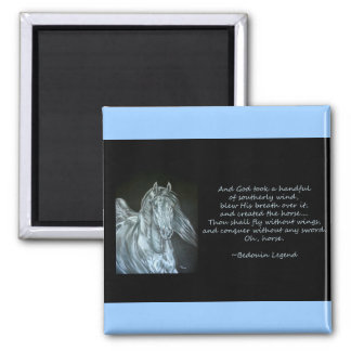 God Created Horse 2 Inch Square Magnet