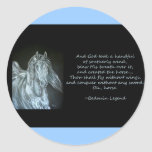 God Created Horse Classic Round Sticker