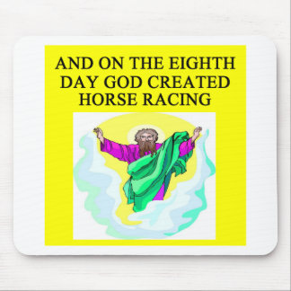 god created horse racing mouse pad