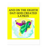 god created latkes postcard
