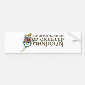 God Created Mandolin Bumper Stickers