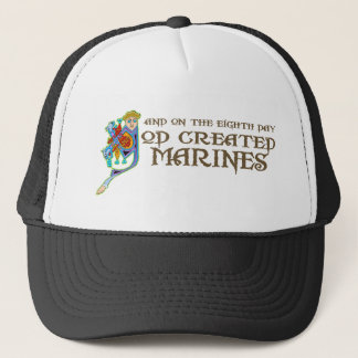 God Created Marines Trucker Hat