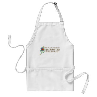 God Created Microbiology Adult Apron