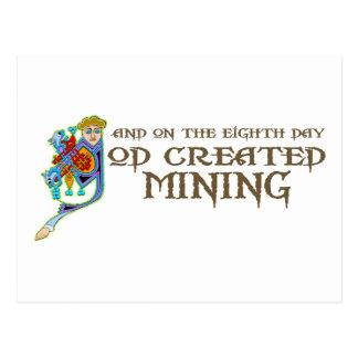 God Created Mining Postcard