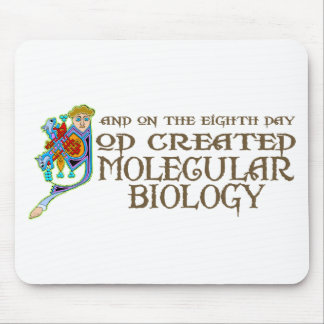 God Created Molecular Biology Mouse Pad