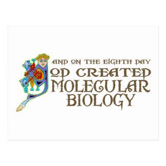 God Created Molecular Biology Postcard
