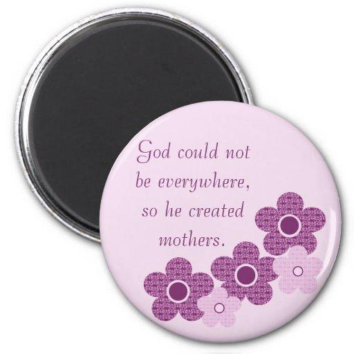 God Created Mothers Flower Magnet, Lavender