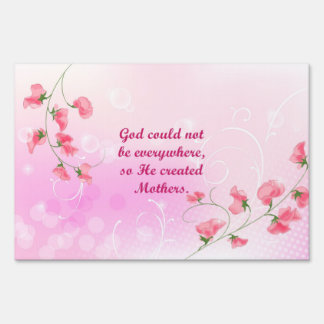 GOD CREATED MOTHERS YARD SIGN