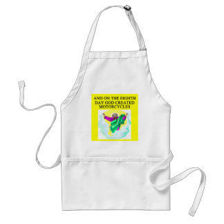 god created motorcycles adult apron