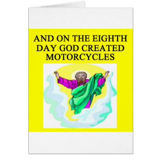 god created motorcycles greeting card