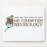 God Created Neurology Mouse Mats