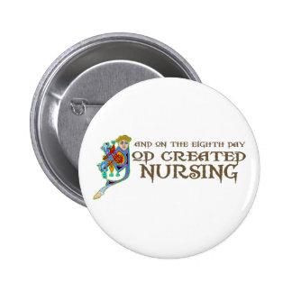 God Created Nursing 2 Inch Round Button