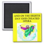 god created opera 2 inch square magnet