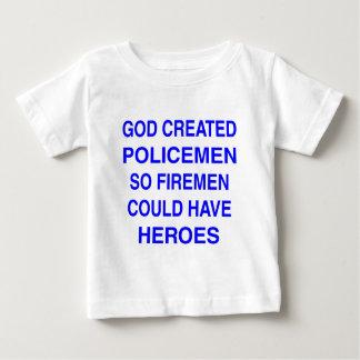 God created Policemen Baby T-Shirt