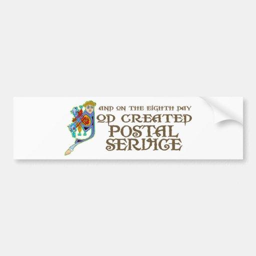God Created Postal Service Car Bumper Sticker