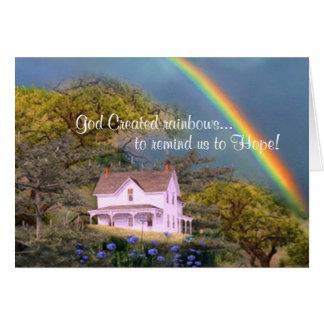 God created rainbows... card