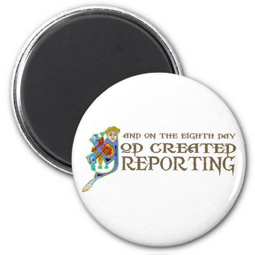 God Created Reporting Fridge Magnets
