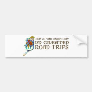 God Created Road Trips Car Bumper Sticker