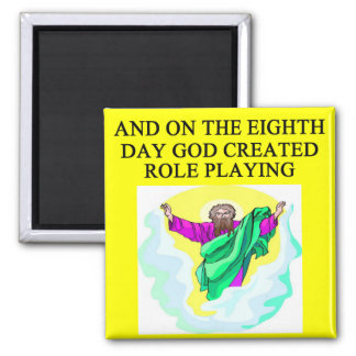 god created role playing 2 inch square magnet