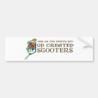 God Created Scooters Bumper Sticker