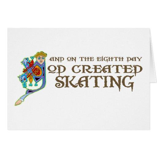God Created Skating Card