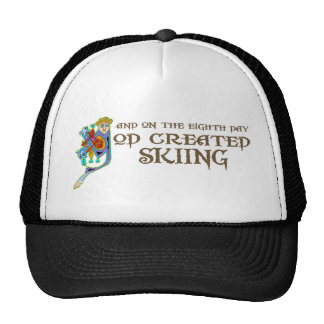 God Created Skiing Hat