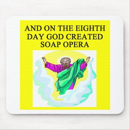 god created soap opera mouse pad