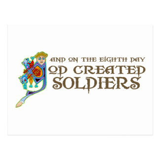 God Created Soldiers Postcard