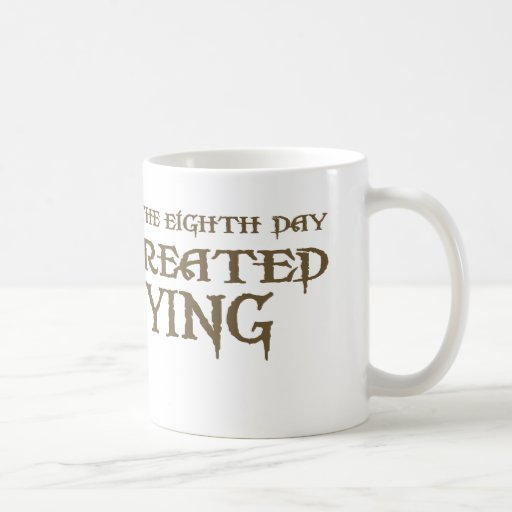God Created Spying Classic White Coffee Mug