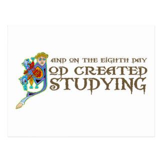 God Created Studying Postcards