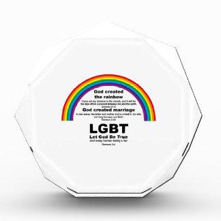 God Created the Rainbow Acrylic Award