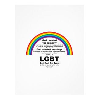 God Created the Rainbow Letterhead