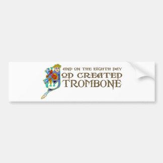 God Created Trombone Car Bumper Sticker