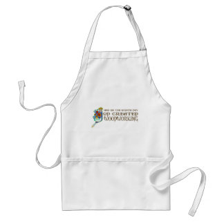 God Created Woodworking Adult Apron