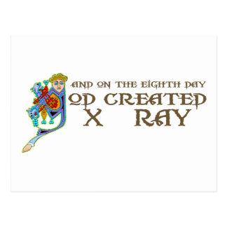 God Created X-Ray Postcard